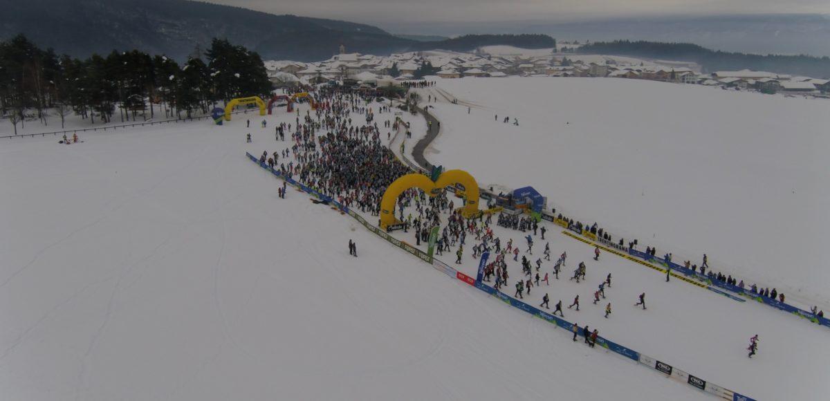 Video riprese aeree con drone per Ciaspolada 2018 Trentino Val di Non