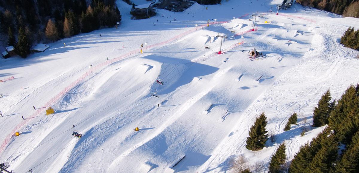 Riprese aeree con drone per Snopark Trento Monte Bondone