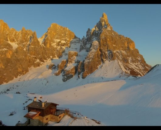 Videoriprese aeree con drone per documentario The Clean Approach 9 Pale di San Martino