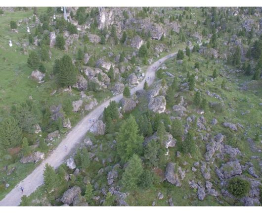 Video riprese aeree con drone per Dolomyths ULTRA 2018 2